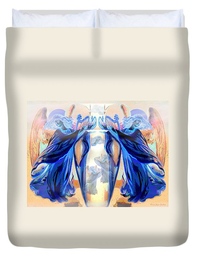Angels Duvet Cover featuring the digital art The Sounds Of Angels by Joyce Dickens