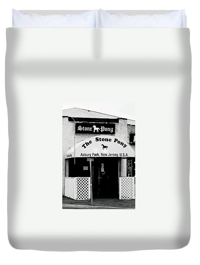 Stone Pony Duvet Cover featuring the photograph The Stone Pony Asbury Park NJ by Terry DeLuco