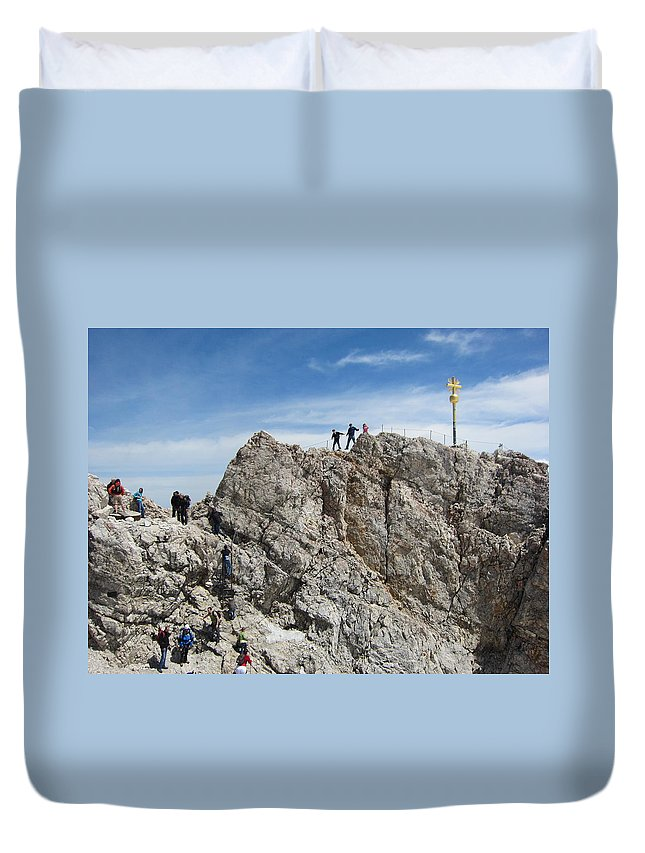 Summit Duvet Cover featuring the photograph The Summit - 1 by Pema Hou