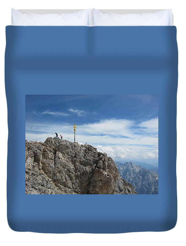 Summit Duvet Cover featuring the photograph The Summit by Pema Hou