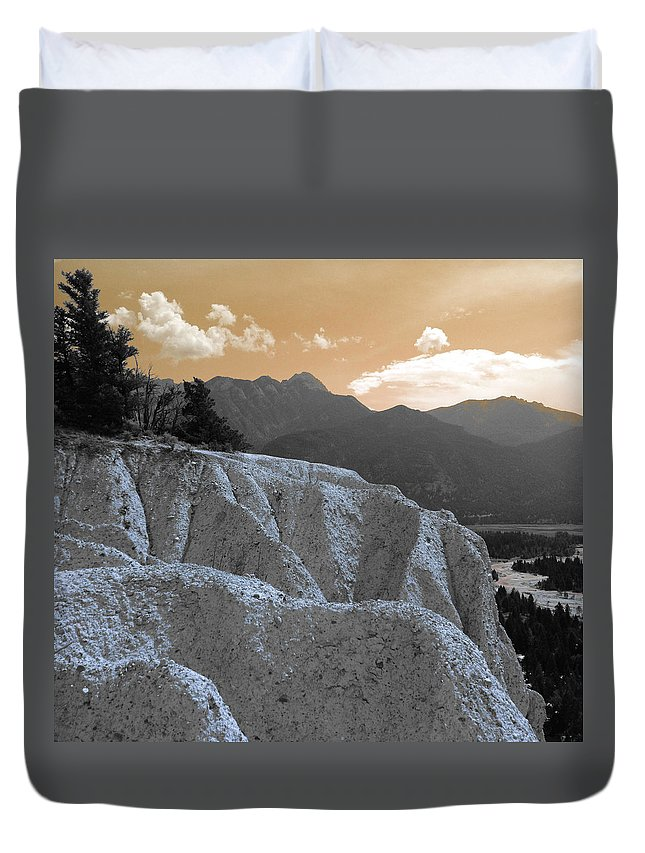 Landscapes Duvet Cover featuring the photograph The Sun Let Down by The Artist Project