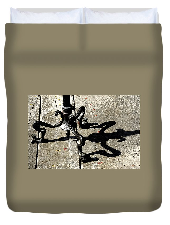 Time Duvet Cover featuring the photograph The Sundial by Cindy Manero
