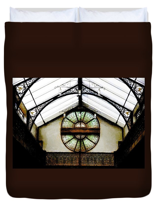 Christchurch Duvet Cover featuring the photograph The Tannery by Steve Taylor