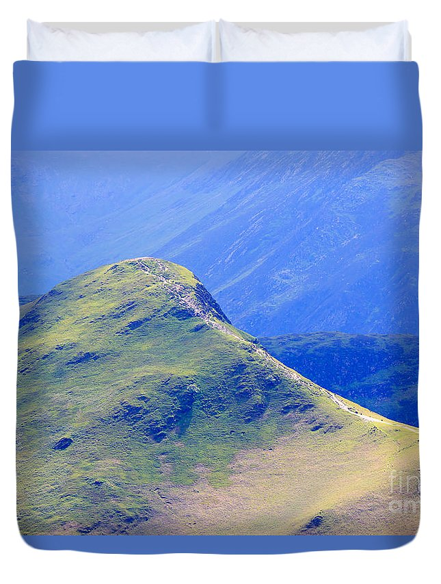 Catbells Duvet Cover featuring the photograph The Top Of Catbells In The Lake District by Louise Heusinkveld
