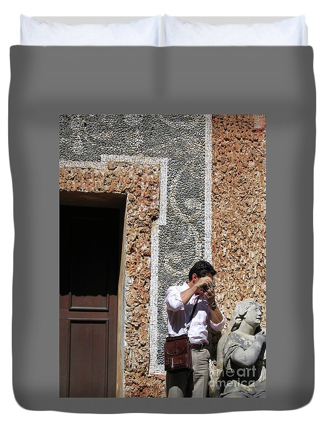 Austria Duvet Cover featuring the photograph The Tourist And His Lady by Ann Horn