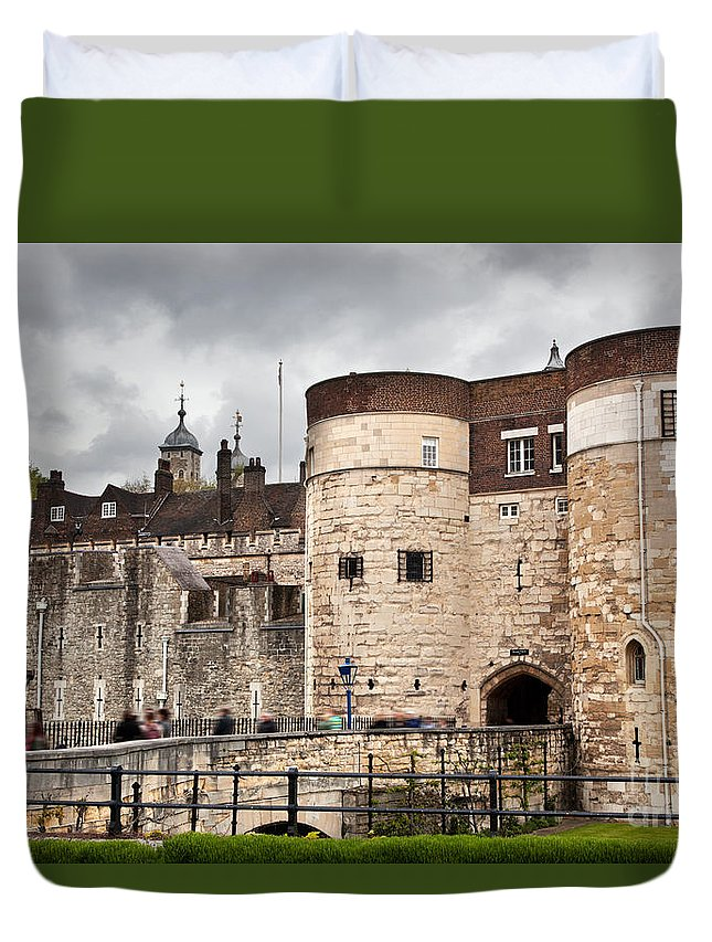 London Duvet Cover featuring the photograph The Tower Of London Uk The Historic Royal Palace And Fortress by Michal Bednarek
