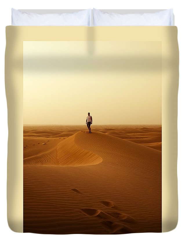 Man Duvet Cover featuring the photograph The Traveller by Mick House