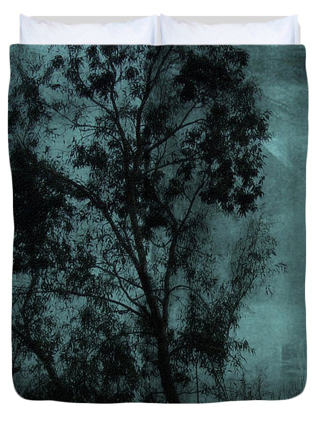 Tree Duvet Cover featuring the digital art The Tree by Sarah Vernon