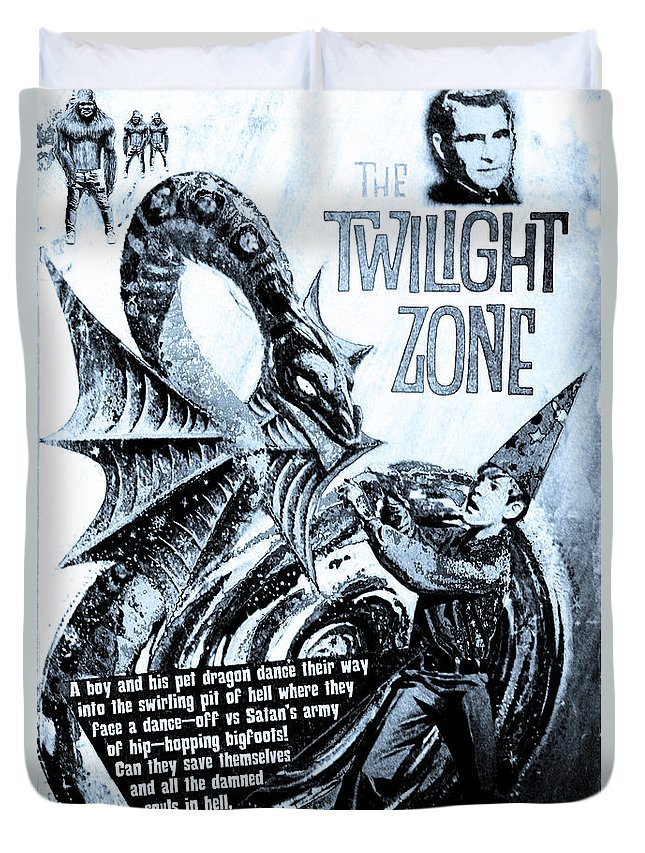 Black Hole Duvet Cover featuring the digital art The Twilight Zone by Ric Bascobert