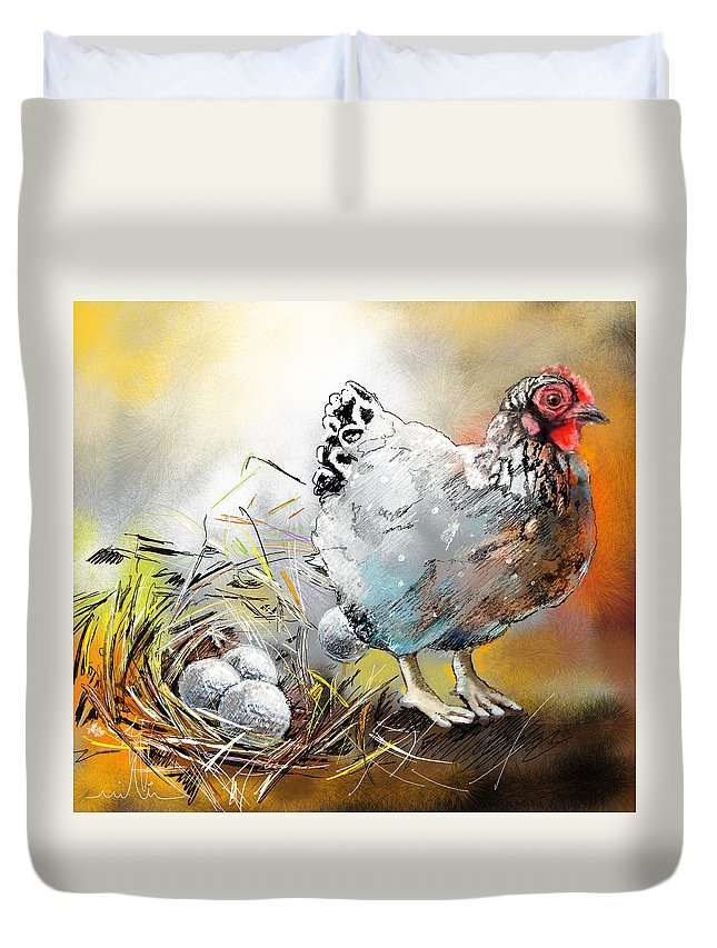 Sports Duvet Cover featuring the painting The Ultimate Golfer Gift by Miki De Goodaboom