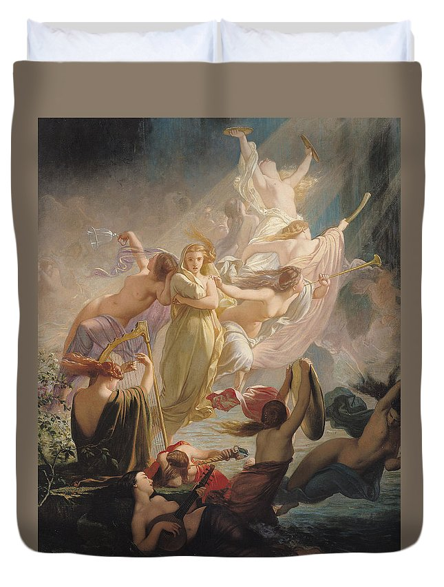 the undines or the voice of the torrent duvet cover for sale by