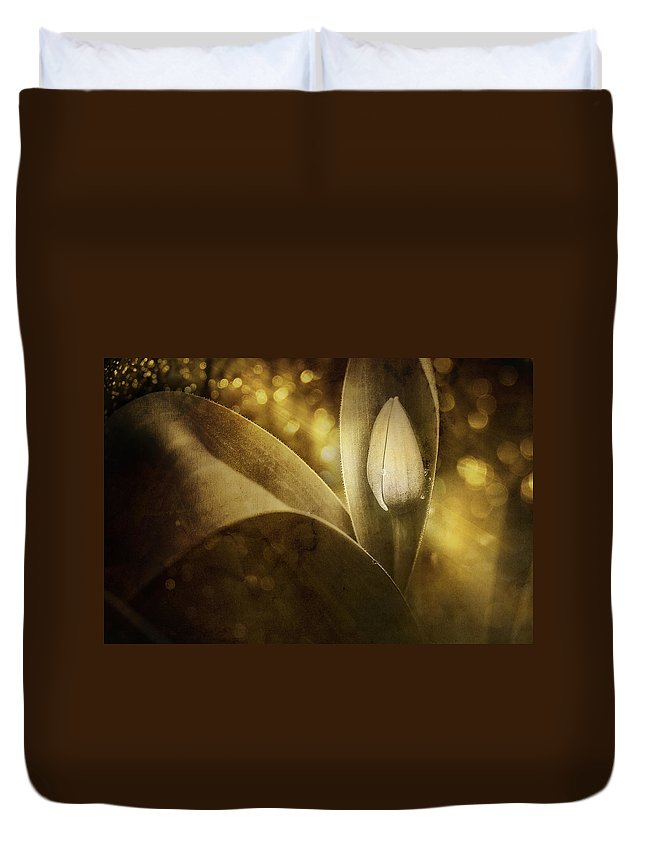 Tulip Duvet Cover featuring the photograph The Unveiling 2 by Scott Norris