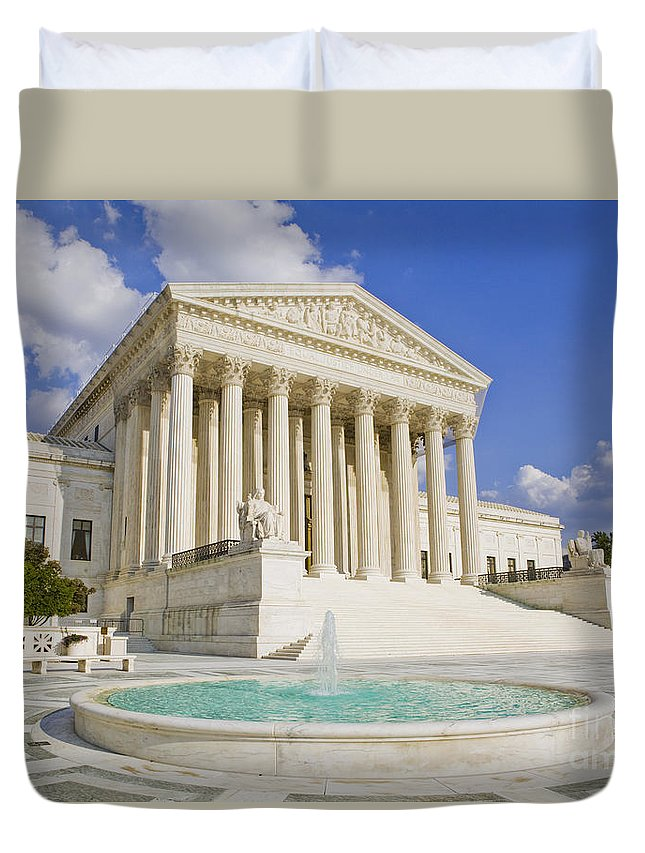 America Duvet Cover featuring the photograph The Us Supreme Court Building by B Christopher