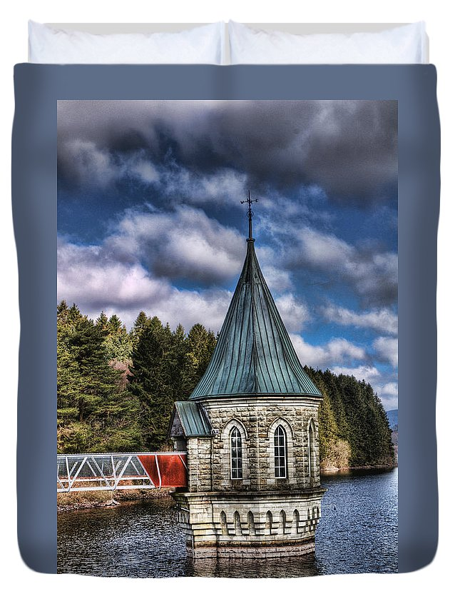 The Valve Tower Duvet Cover featuring the photograph The Valve Tower by Steve Purnell