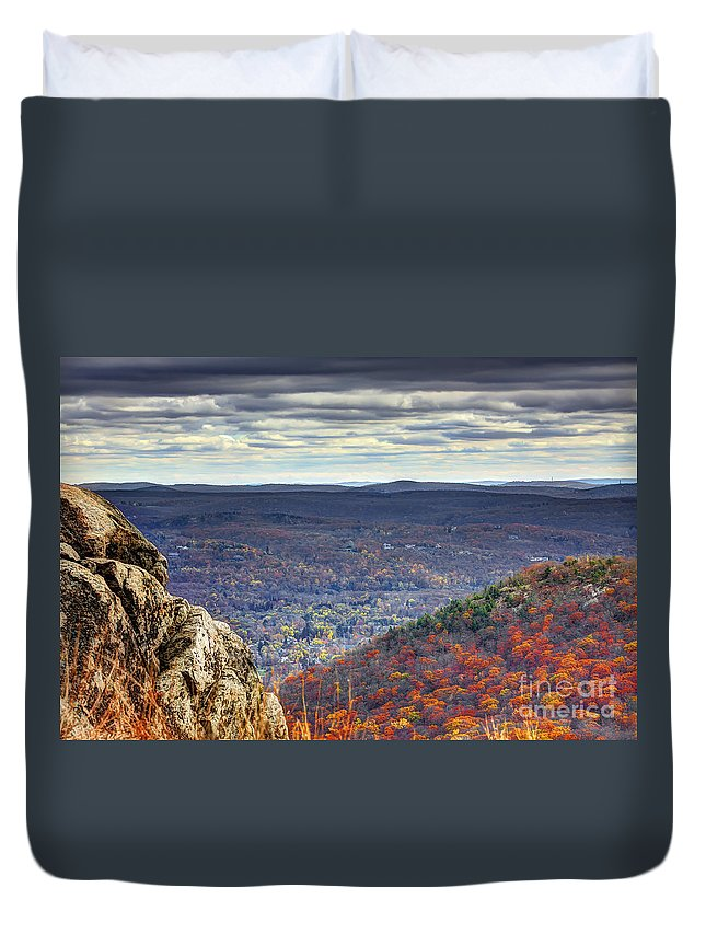 Storm King Mountain Duvet Cover featuring the photograph The View by Rick Kuperberg Sr