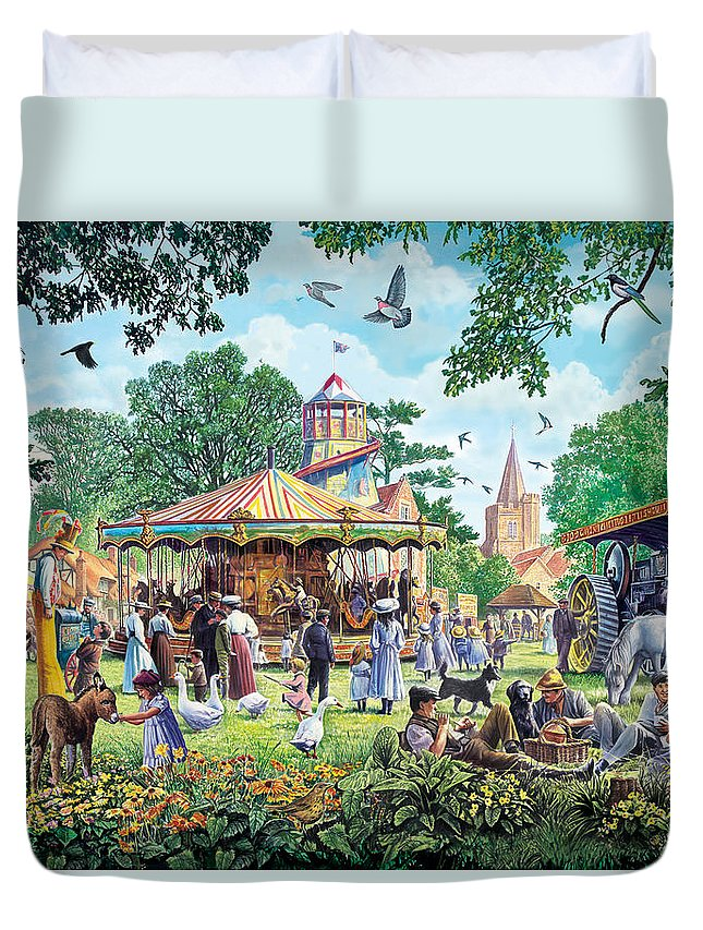 Animal Duvet Cover featuring the photograph The Village Fayre by Steve Crisp