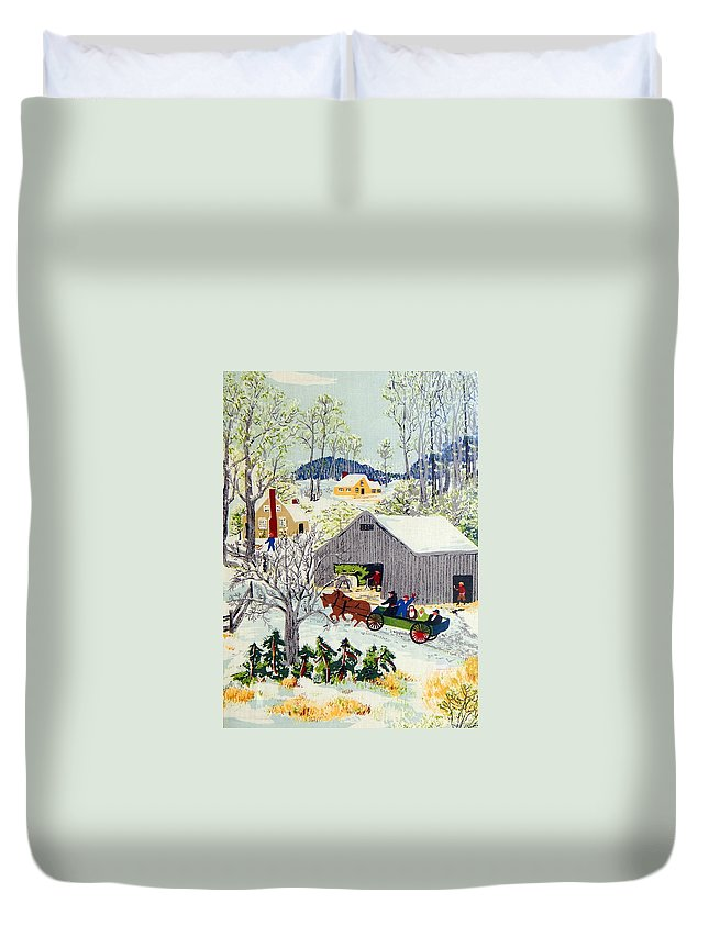 Village Duvet Cover featuring the photograph The Village by Munir Alawi