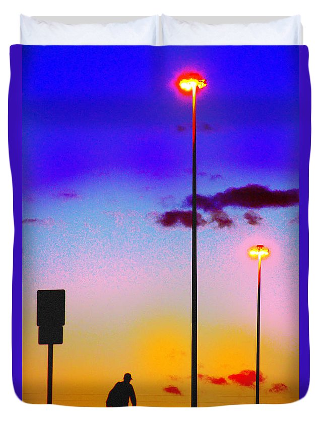 Pop Art Duvet Cover featuring the photograph The Wanderer by Brian Metz