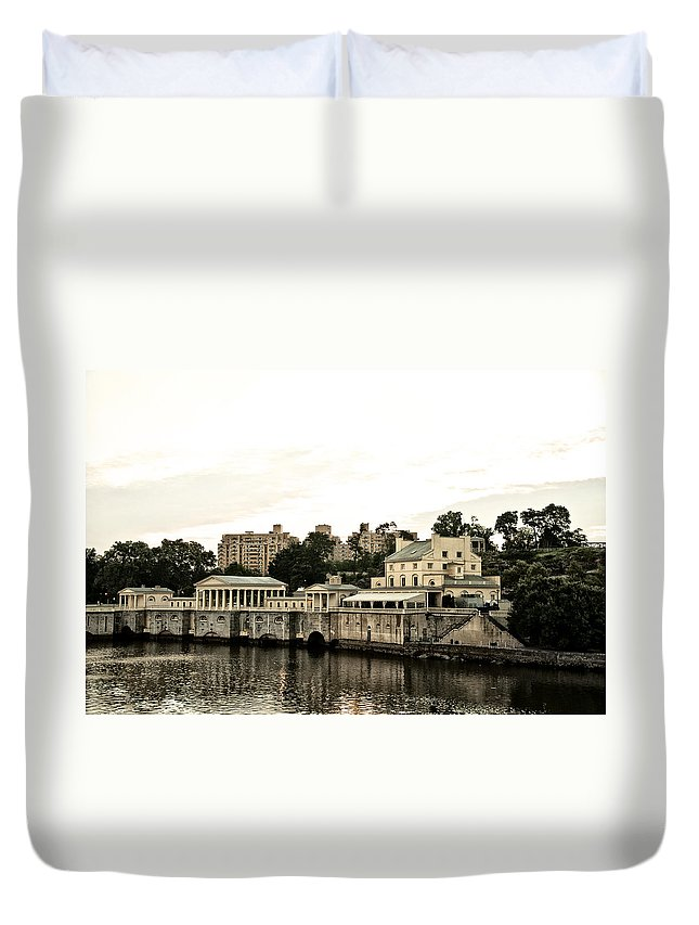 Waterworks Duvet Cover featuring the photograph The Waterworks by Bill Cannon