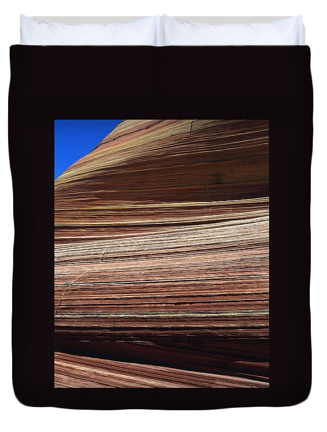 Landscape Duvet Cover featuring the photograph 'the Wave' North Coyote Buttes 06 by Jeff Brunton