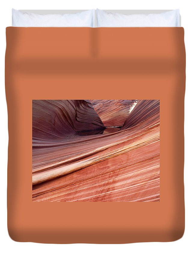 Landscape Duvet Cover featuring the photograph 'the Wave' North Coyote Buttes 62 by Jeff Brunton