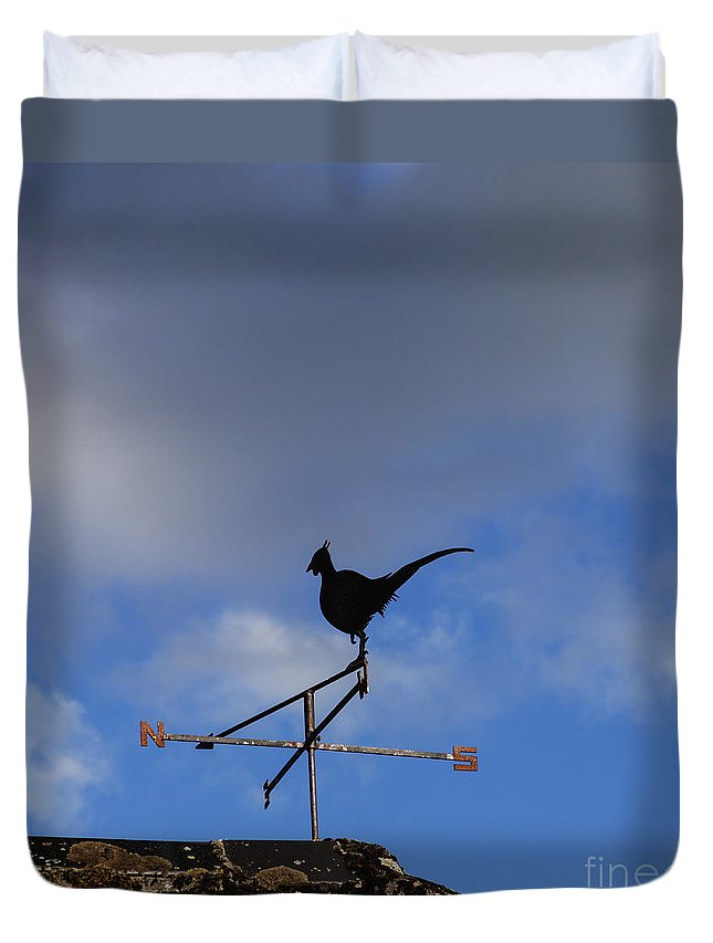 Communication Duvet Cover featuring the photograph The Way The Wind Blows by Diane Macdonald