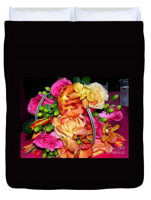 Wedding Flowers Duvet Cover featuring the photograph The Wedding Flowers by Kathy White