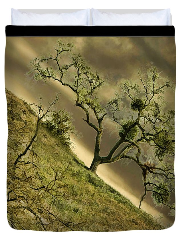 Art Photography Duvet Cover featuring the photograph The Wicked Tree by Blake Richards