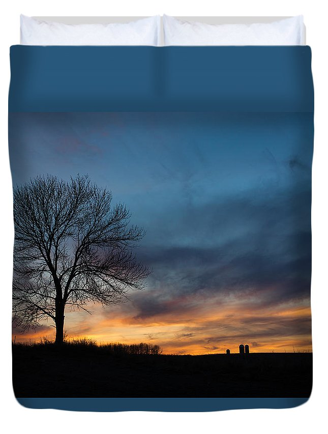 Bill Pevlor Duvet Cover featuring the photograph The Wild Blue by Bill Pevlor