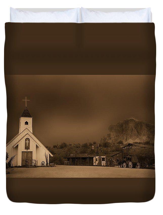 Arizona Duvet Cover featuring the photograph The Wild West by Saija Lehtonen