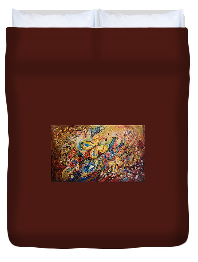 Original Duvet Cover featuring the painting The Wind by Elena Kotliarker