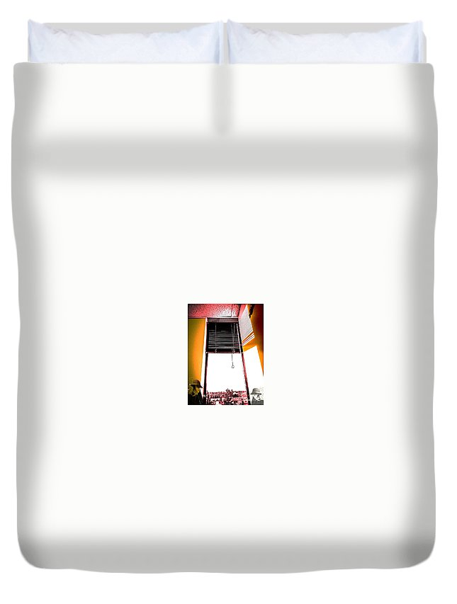 Abstract Duvet Cover featuring the photograph The Window by Fei A