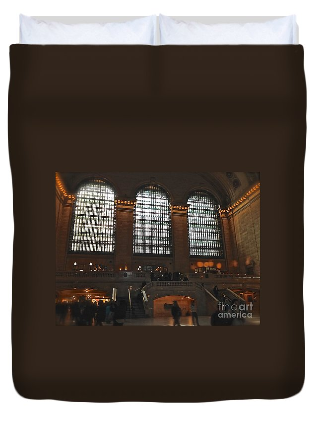 Windows Duvet Cover featuring the photograph The Windows At Grand Central Terminal by Christy Gendalia
