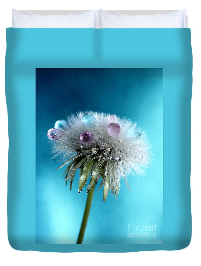 Dandelion Duvet Cover featuring the photograph The Wish by Krissy Katsimbras