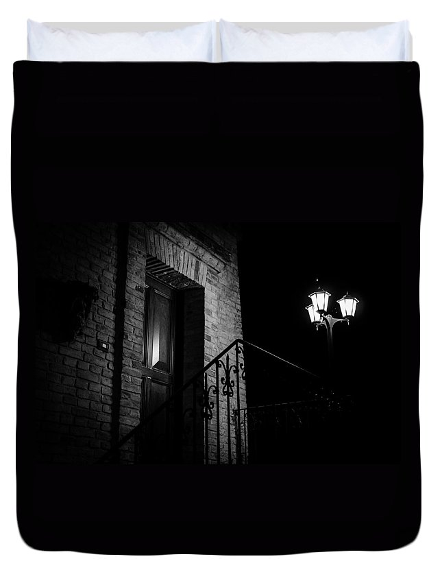 Abruzzo Duvet Cover featuring the photograph The Witches Are Hiding by Andrea Mazzocchetti