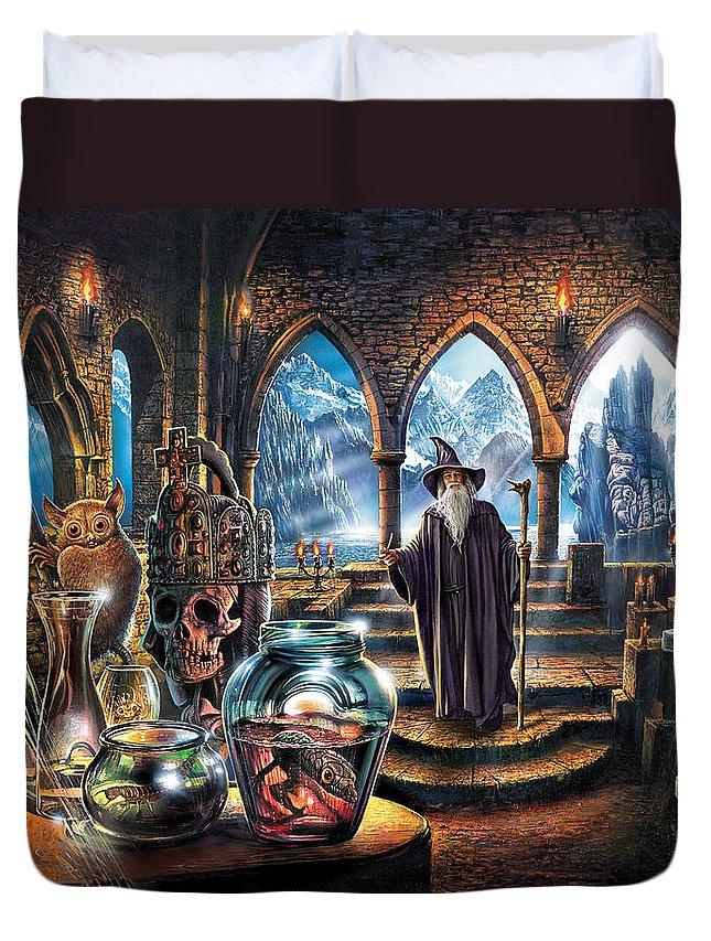 Steve Crisp Duvet Cover featuring the photograph The Wizards Castle by Steve Crisp