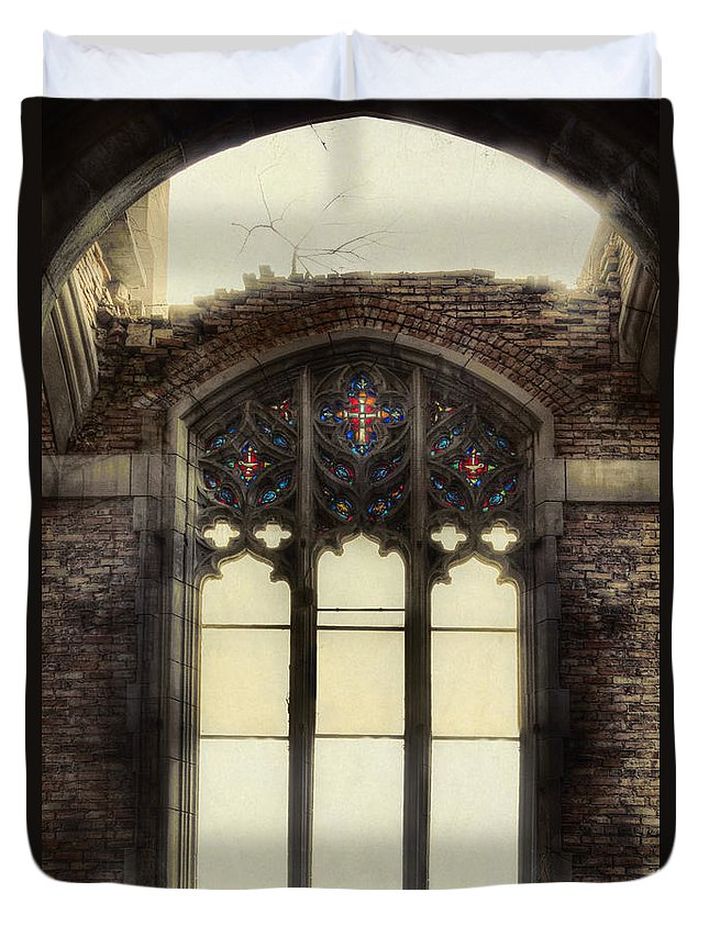 Church Duvet Cover featuring the photograph The Worlds Window by Margie Hurwich