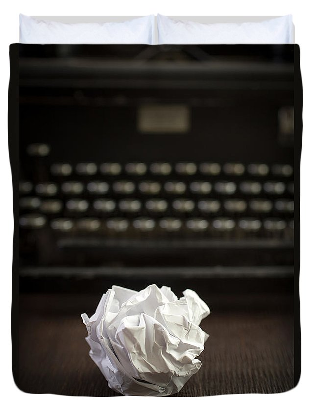 Paper Duvet Cover featuring the photograph The Writer by Edward Fielding