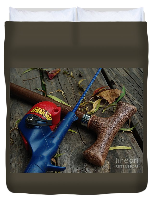 Angling Duvet Cover featuring the photograph The X Men by Peter Piatt