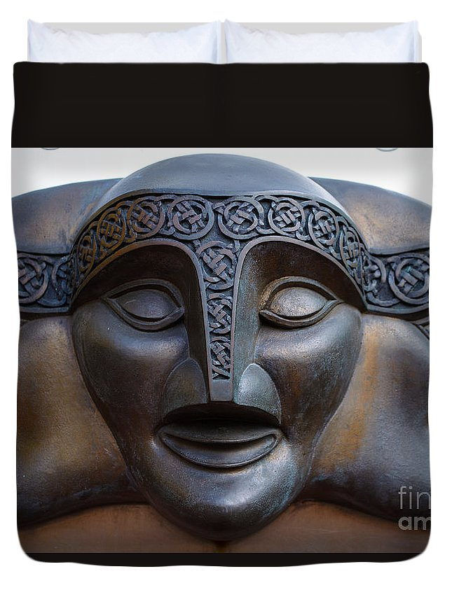 Theater Duvet Cover featuring the photograph Theater Mask by Tikvah's Hope
