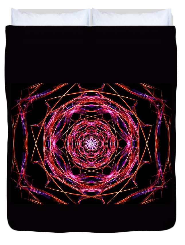 Digital Duvet Cover featuring the digital art Theory by April Patterson