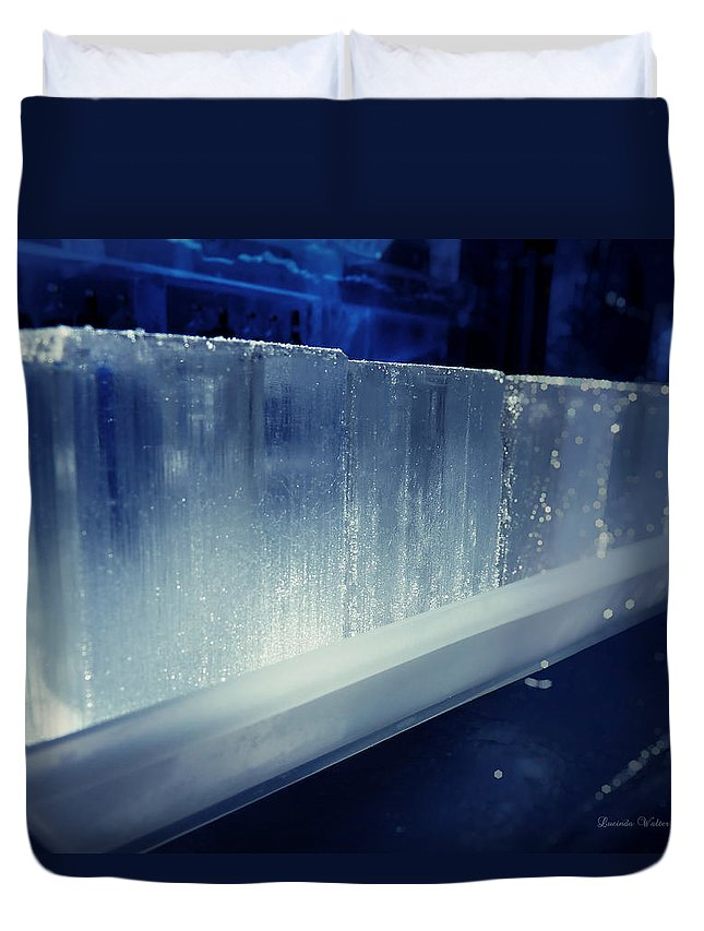 Lucinda Walter Duvet Cover featuring the photograph These Ice Glasses Are Ready by Lucinda Walter