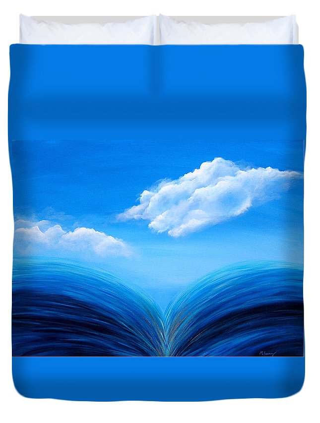 Original Duvet Cover featuring the painting They Flowed Together by Melissa Joyfully