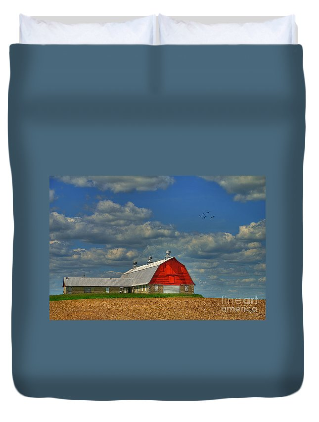 Landscape Duvet Cover featuring the photograph Things Unnoticed At The Time by Lois Bryan