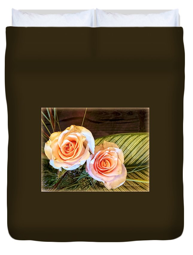 Flowers Duvet Cover featuring the photograph Thinking Of You by Barbara Zahno