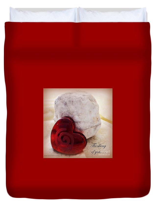 Acrylic Prints Duvet Cover featuring the photograph Thinking Of You Greeting by Bobbee Rickard
