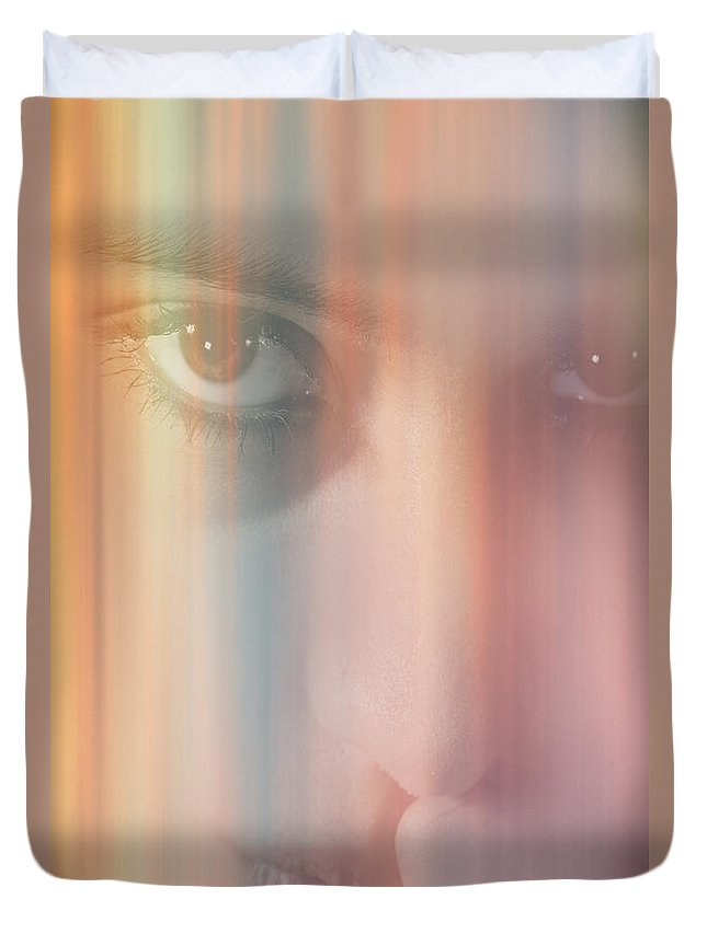 Abstract Duvet Cover featuring the digital art Thinking Of You by Nathan Wright