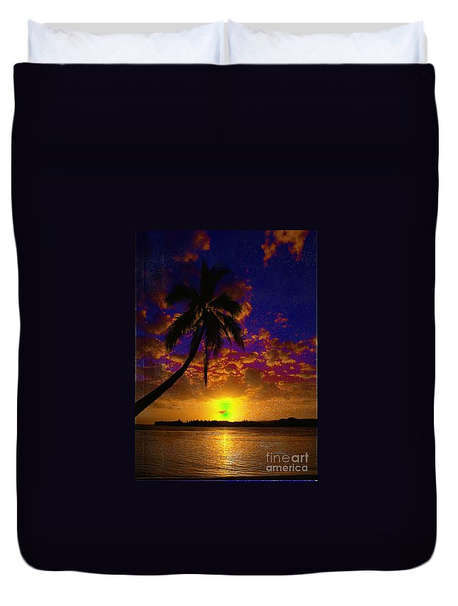 Digital Art Landscape Duvet Cover featuring the digital art Thinking Of You by Yael VanGruber