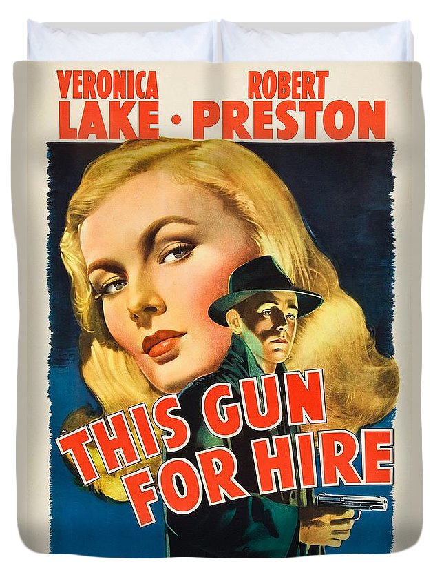 This Gun For Hire Duvet Cover featuring the photograph This Gun For Hire by Movie Poster Prints