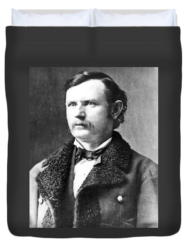 19th Century Duvet Cover featuring the photograph Thomas Benton Weir(1838-1876) by Granger